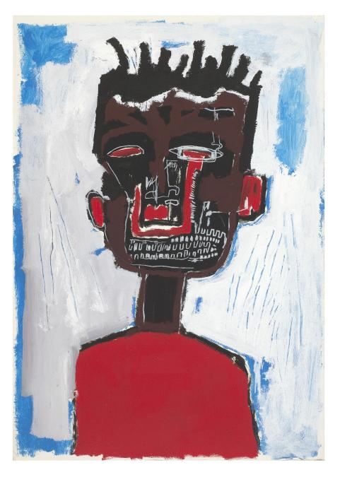 Jean-Michel Basquiat, Self Portrait, 1984. Private collection.